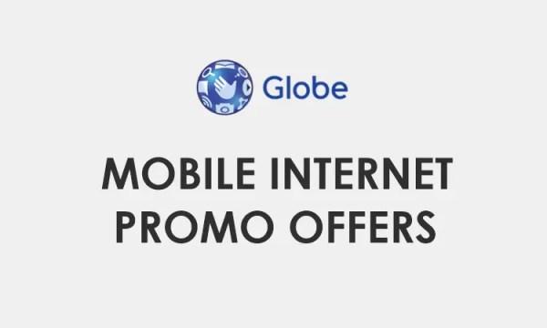 Globe Internet Promo Offers 2021: Globe Internet Data Promo List