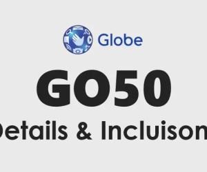 Globe Go50: Go 50 Promo Details