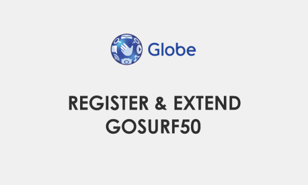 Register, Extend GoSURF50 / GS50