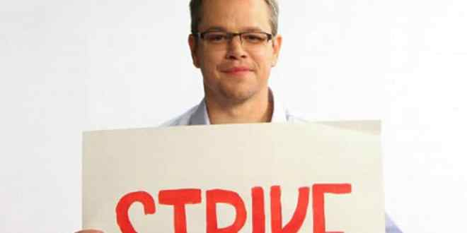 matt damon water.org strike
