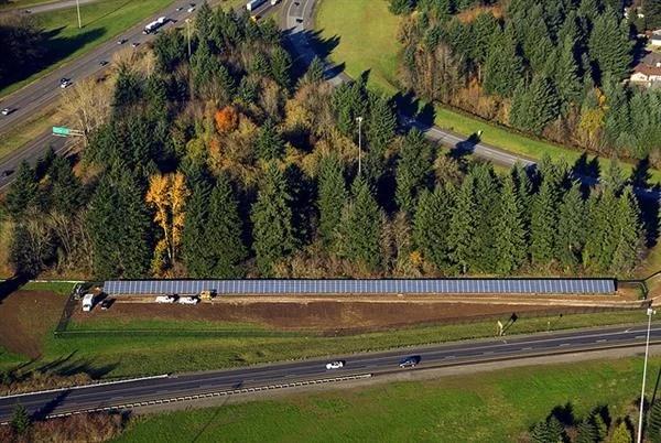 A Solar Highway in Oregon, USA