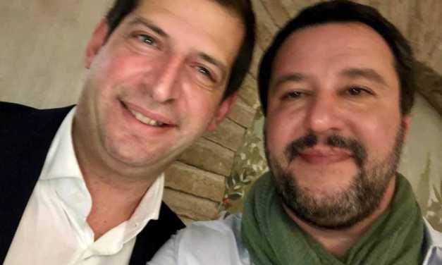 DOMENICA MATTEO SALVINI A CAMPLI CON IL CANDIDATO PIETRO QUARESIMALE