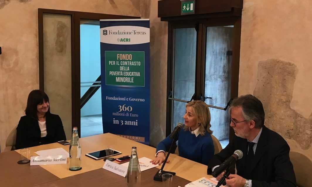 """VIDEO   Fondazione Tercas, presentato progetto """"Next 5-14"""" contro la povertà educativa minorile"""