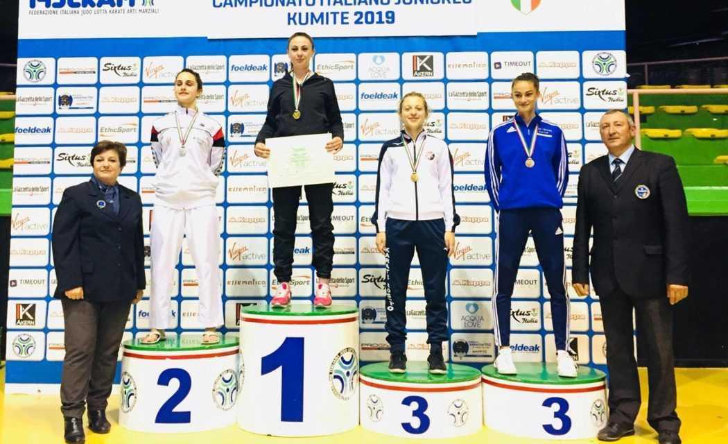 Karate, medaglia di bronzo per la rosetana Amelie Perpetuini nei Campionati Italiani Juniores