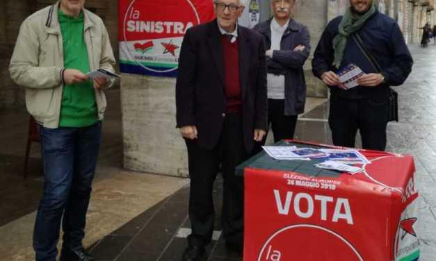 """Europee, chiusa con un presidio a Teramo la campagna elettorale de """"La Sinistra"""""""