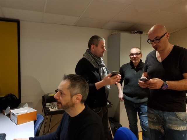 Paolo Di Sabatino e i musicisti che hanno collaborato per la realizzazione della musica (2)