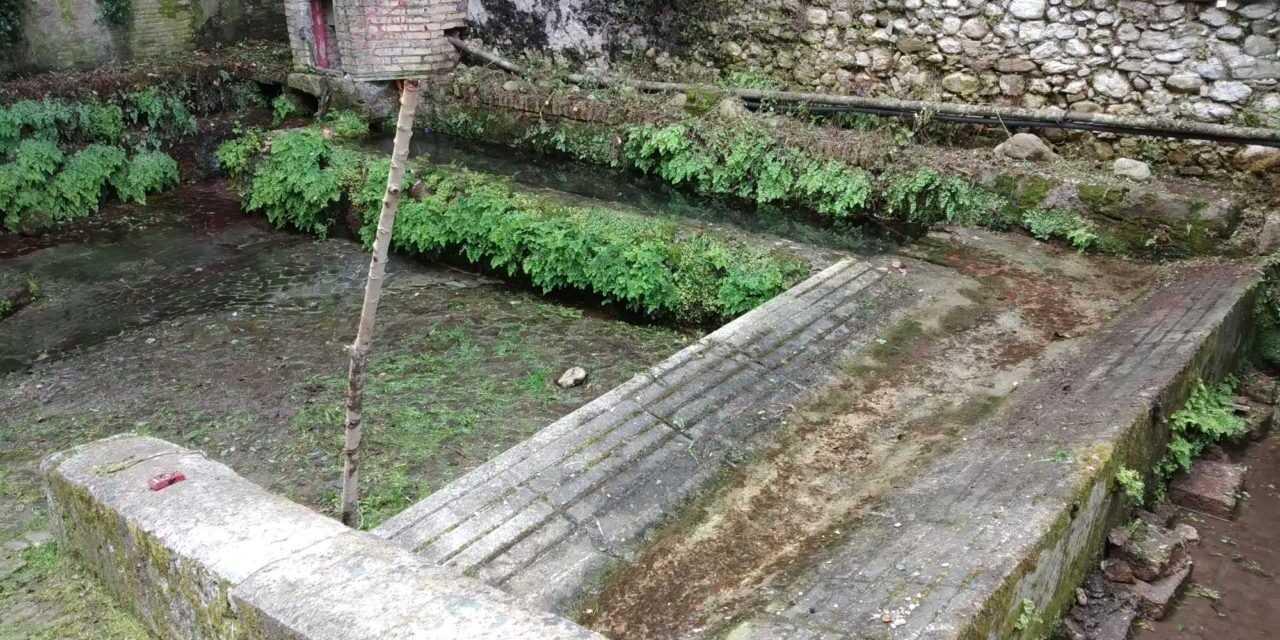 """FOTO   Fonte della Noce """"torna alla luce"""" ripulita dal Petrut Archeoclub"""