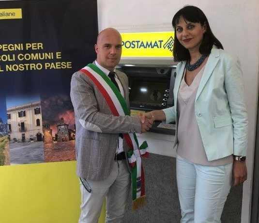 Poste Italiane: inaugurato l'Atm Postamat di Valle Castellana