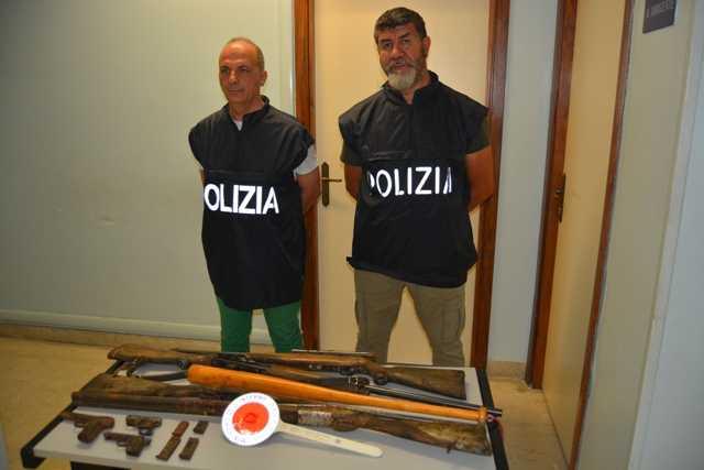 Fermati in auto con armi rubate in un'abitazione a Giulianova: arrestati