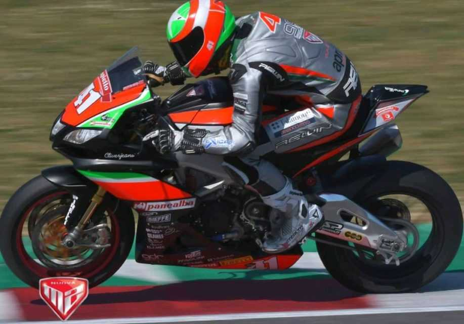 Moto,  il pilota abruzzese Federico D'Annunzio in gara a Misano in Superbike