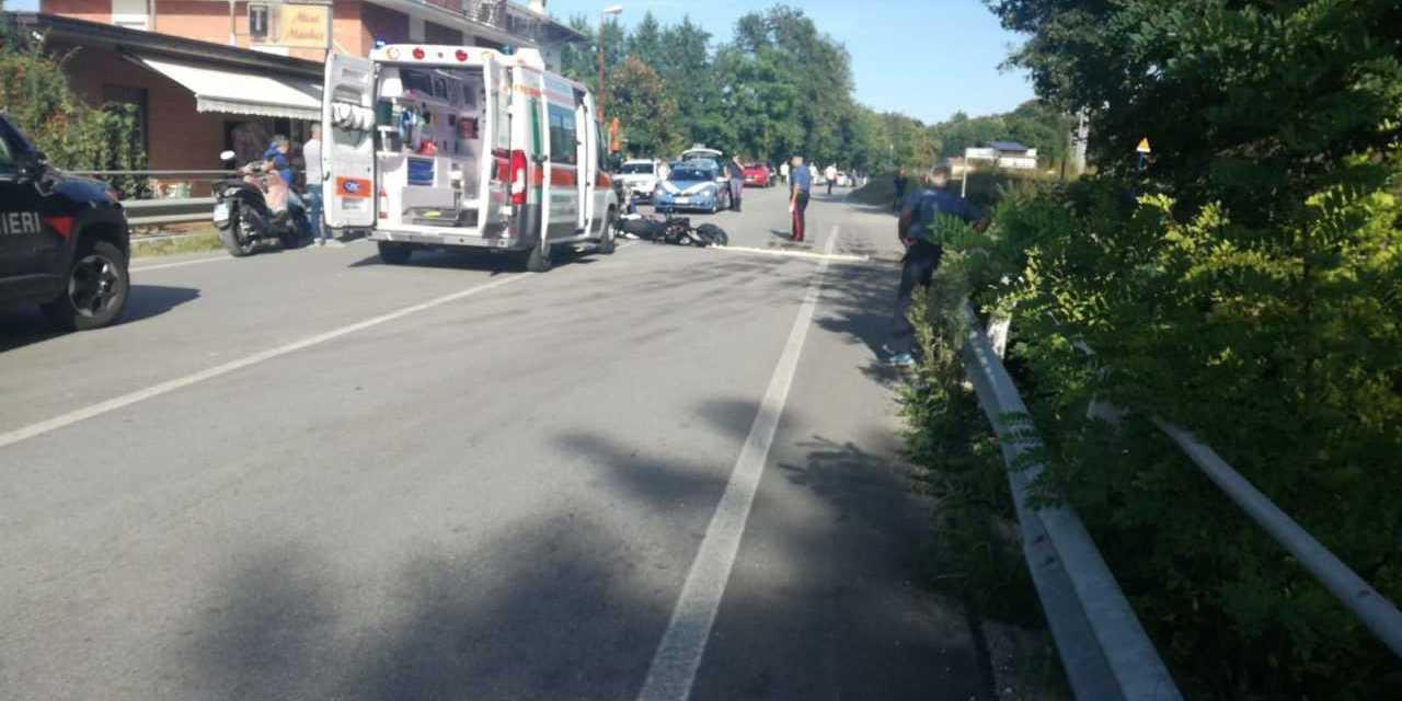 Montorio, frontale auto-moto nei pressi di Villa Maggiore: ferito il centauro