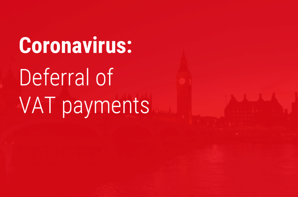 Deferral of VAT payments due to coronavirus