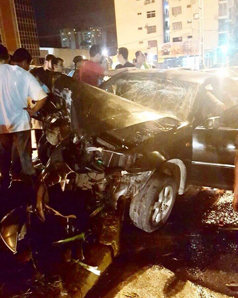 El accidente ocurrió este 22 de diciembre en la noche. Foto Cortesía