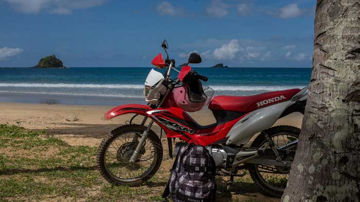 Get around El Nido with a 125cc Honda XRM