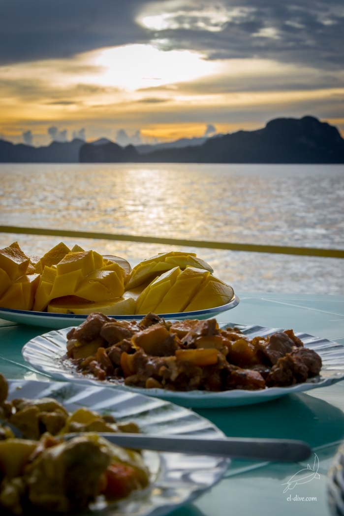 Sunset dinner from Cadlao island