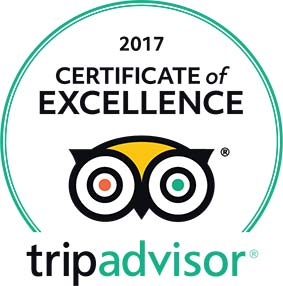 Trip Advisor Certificate of Excellence 2017 logo
