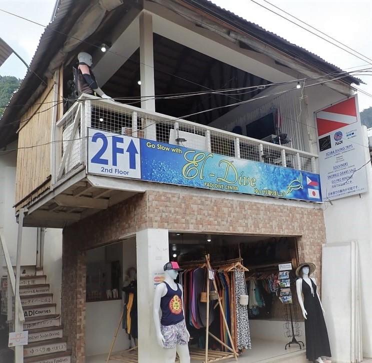 El Dive, outside of our souvenir branch, in the center of El Nido