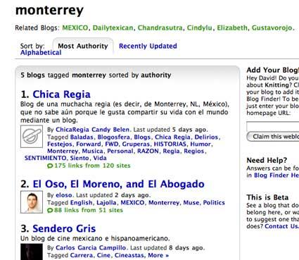 technorati blog search