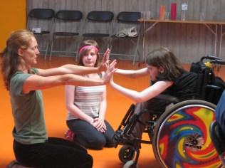 Danza en silla de ruedas bailarina irlandesa Tara Brandel
