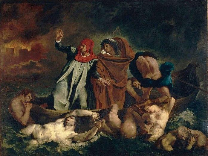 Eugene Delacroix, Dante y Virgilio en los infiernos (1822)