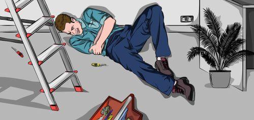 accidente trabajo caída prevención