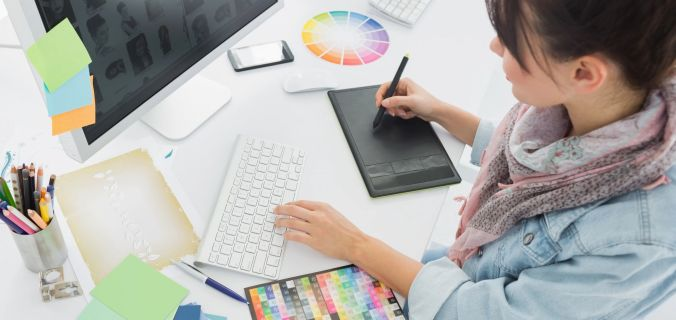 como combinar e escolher cores para design gráfico