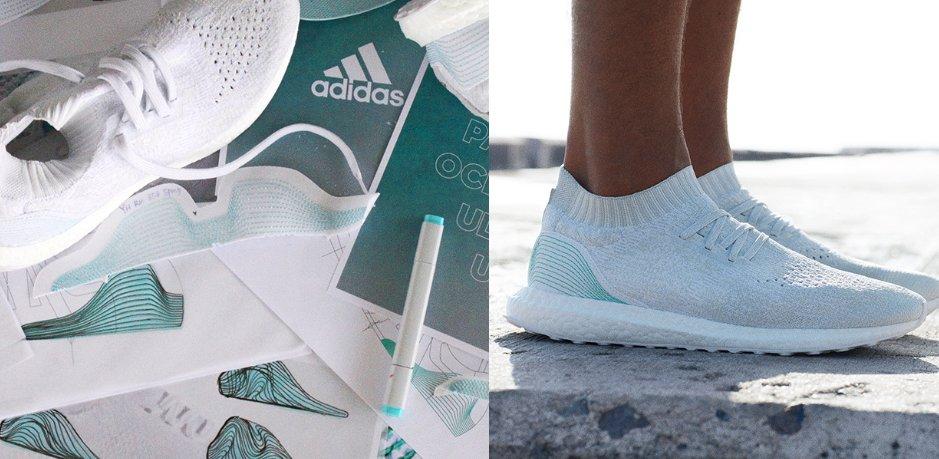 Des baskets Adidas conçus à partir de déchets plastiques