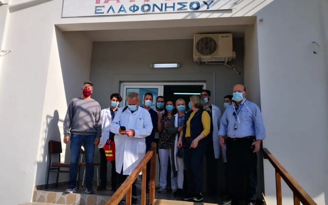 THE GREEK ISLAND OF ELAFONISOS IS COVID FREE AND EVERYONE IS VACCINATED. SAINT GEORGE PROTECTS US