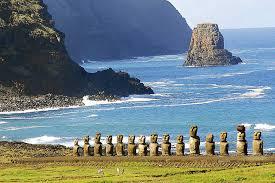 La isla de Rapa Nui, o isla de Pascua, en Chile