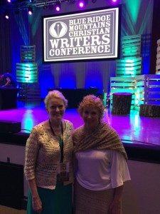 Janet and me at Blue Ridge Mountains Christian Writers Conference awards ceremony.
