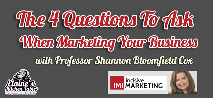 Episode 085 – The 4 Questions To Ask When Marketing Your Business – with Shannon Cox