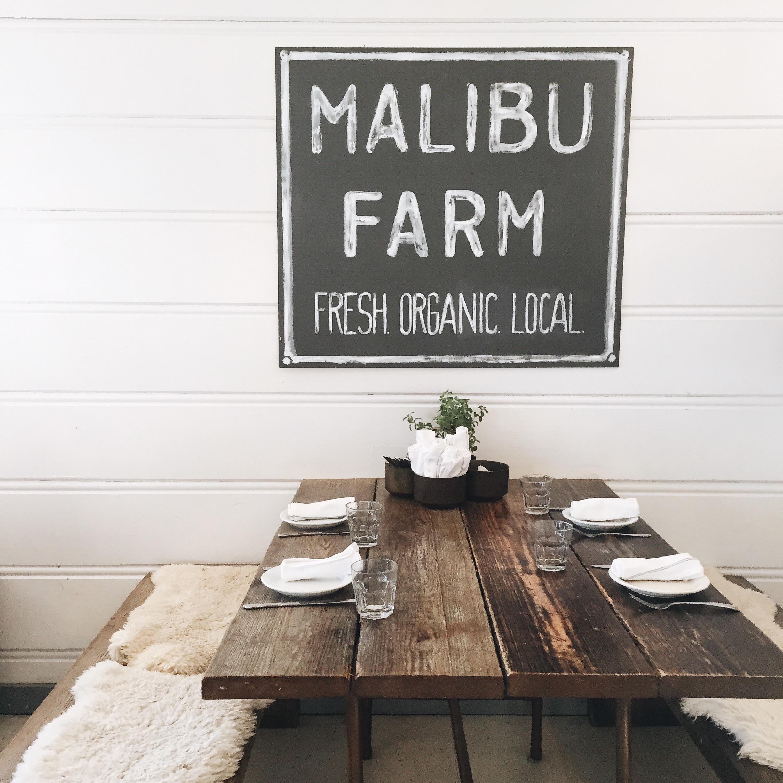 Malibu Farm in Malibu, CA  - elanaloo.com