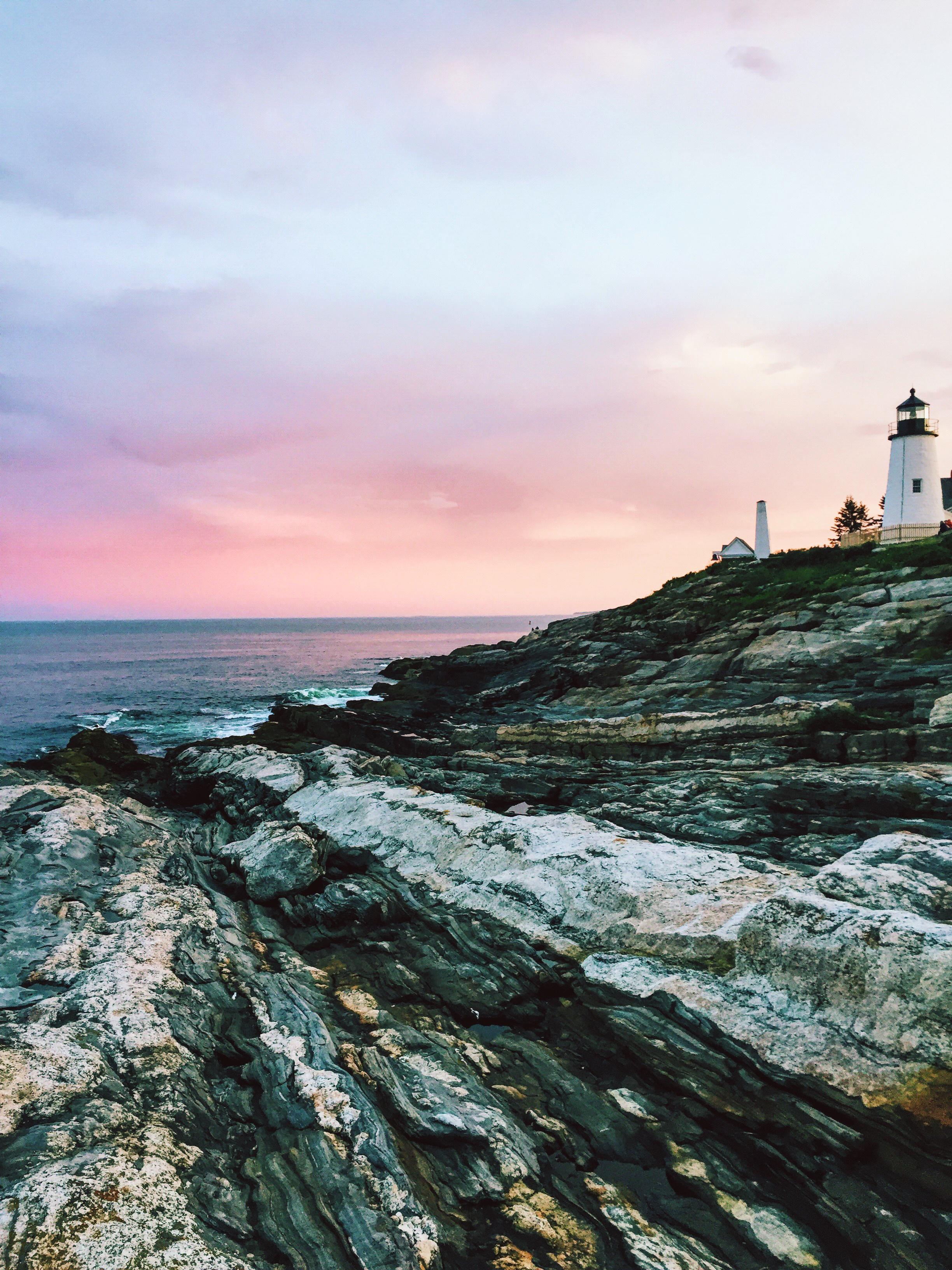 Blogging Journey   Creative Entrepreneur   Summer In Maine   Travel Blogger   Maine Lighthouse   Coast of Maine   Sunset over the Ocean   Photo Inspiration via @elanaloo + elanaloo.com