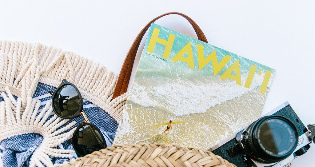 ElanaLoo Featured By Hawaii Magazine | Hawaii Magazine Contributor | Travel Writer ElanaLoo | Travel Blogger | Hawaii Blogger | Perfect Beach Day Set Up | Beach Bag via @elanaloo + elanaloo.com