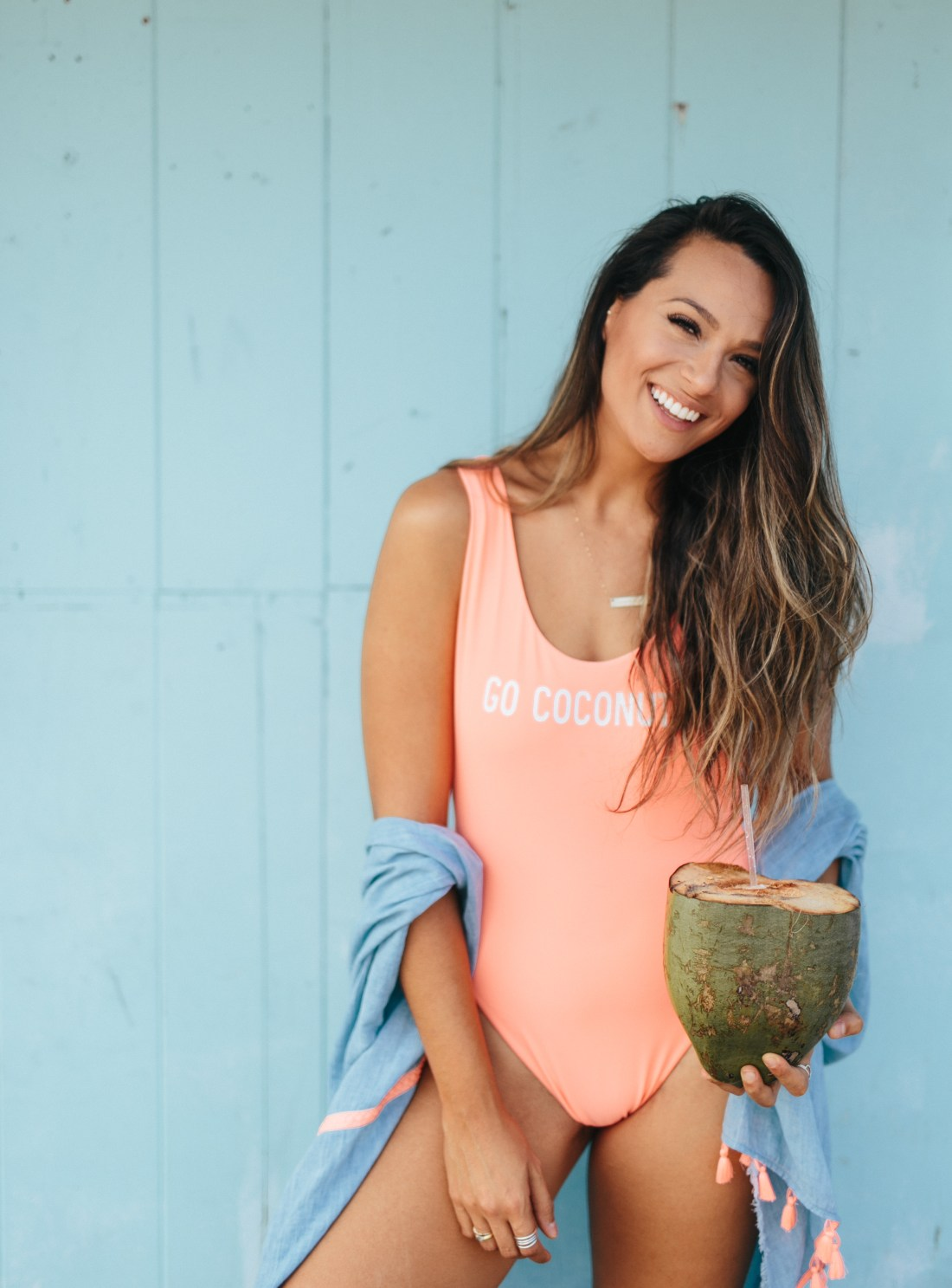 #AerieREAL Campaign   Why I'm #AerieREAL   How Hawaii Taught Me To Love My Body   Body Positive   Love The Skin You're In   Aerie Bikinis   Body Positivity –Love Yourself   Go Coconuts One Piece   Travel Blogger Shares Her Self Love Journey via @elanaloo + elanaloo.com