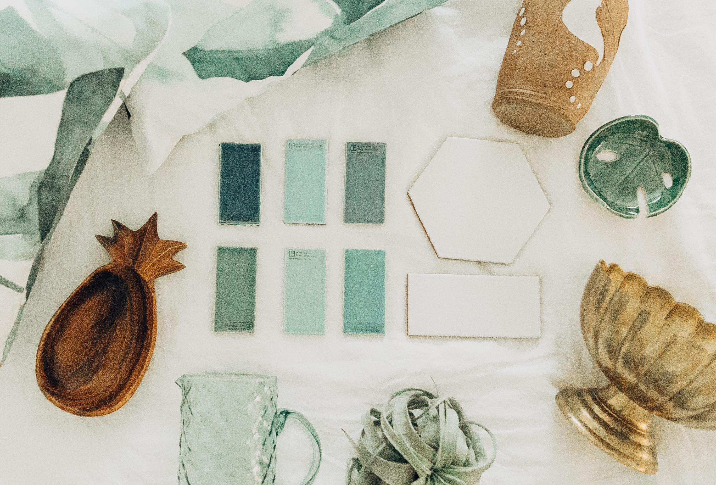 Fireclay Tile | Design Details | Design Scheme | Tropical Home Renovation | Home Redesign | Home Inspiration | Inspiration Board | Life Update from travel blogger ElanaLoo | Life in Hawaii via @elanaloo + elanaloo.com