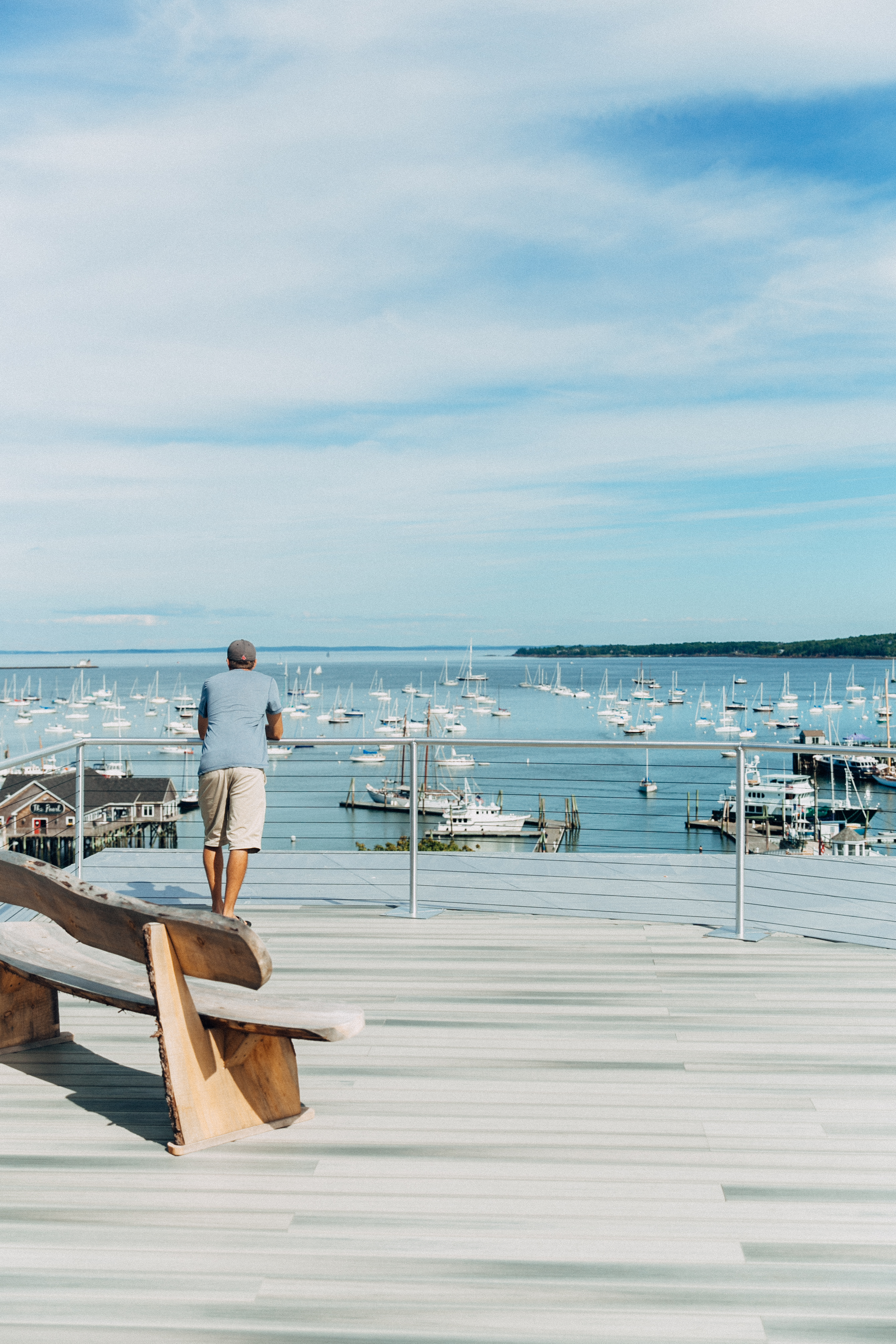 View of Rockland Harbor | Trendy Boutique Hotel in Maine | 250 Main Hotel | Best Places to Stay in Maine | Best Hotels on the Coast of Maine | Where to stay in the coastal towns of Maine | Travel Guide to the coast of Maine | How to Experience Maine | Rockland, Maine | Best of Maine via Travel Blogger @elanaloo + elanaloo.com