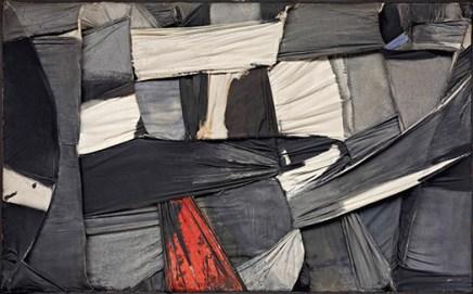 Salvatore Scarpitta. Trapped Canvas [Lienzo atrapado], 1958 Fondation Gandur pour l'Art, Ginebra © Fondation Gandur pour l'Art, Ginebra. Foto: Sandra Pointet