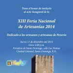 XIII  Feria Nacional de Artesanías Dominicanas 2014
