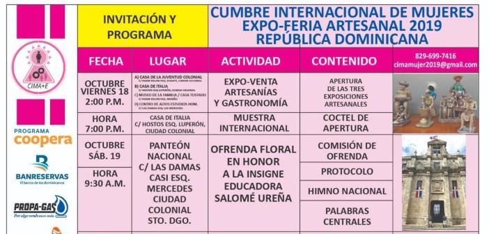Cumbre internacional de mujeres Expo-feria artesanal 2019 República Dominicana
