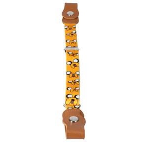 Gespvrije elastische Riem voor kinderen oranje met print lengte