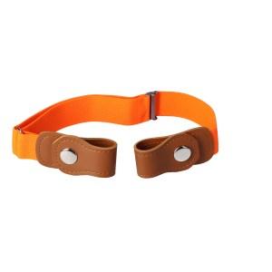 Gespvrije elastische Riem voor kinderen oranje voor