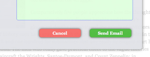 Screenshot of form buttons