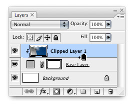 Clipping mask in the Layers palette
