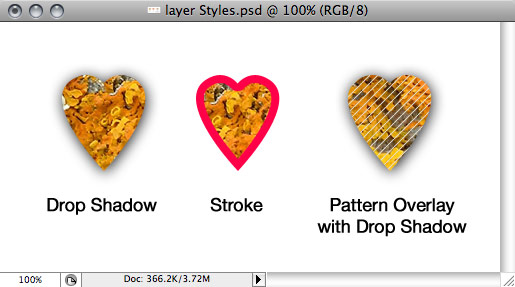 Layer Styles and Clipping Masks