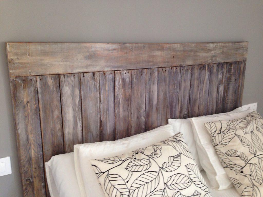 Cabezal de cama con palets excellent cabeceros cama for Cabeceros de cama con palets