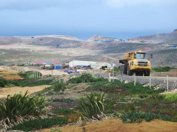 Planicie donde se construye el aeropuerto de Santa Helena (David Stanley)