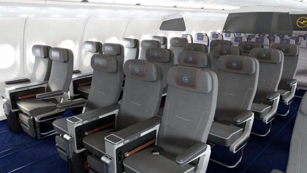 Premium Economy de Lufthansa en sus A340 (Lufthansa)
