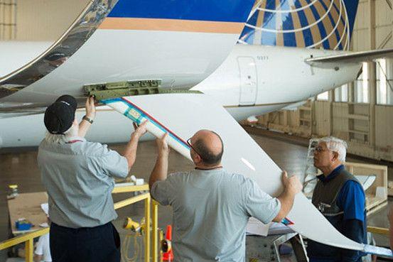 Split Scimitar de los 737NG, un añadido en la parte inferior (Fuente: United)
