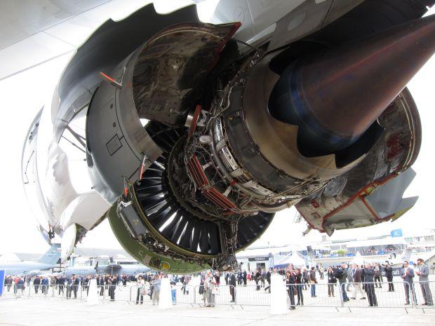 Mísma góndola en el GEnX del 747-8 (Olivier Cleynen)
